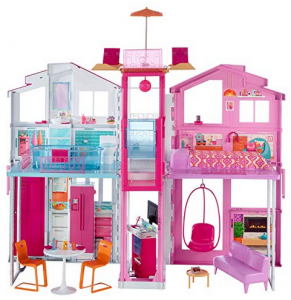 Barbie Casa di Malibu con 4 Stanze, Ascensore e Tanti Accessori